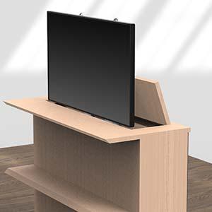 Mobili Per Televisori A Scomparsa.Supporti Motorizzati Flatmover Per Televisori E Monitor A Schermo